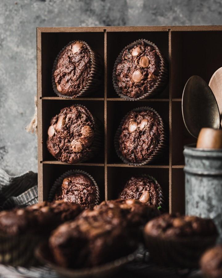 طرز تهیه کیک مافین شکلاتی