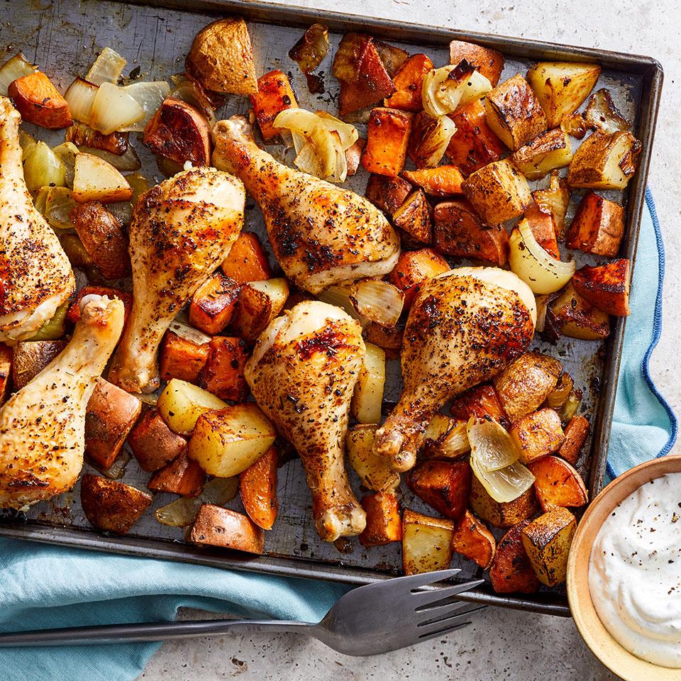 خوراک مرغ سرخ شده درفر