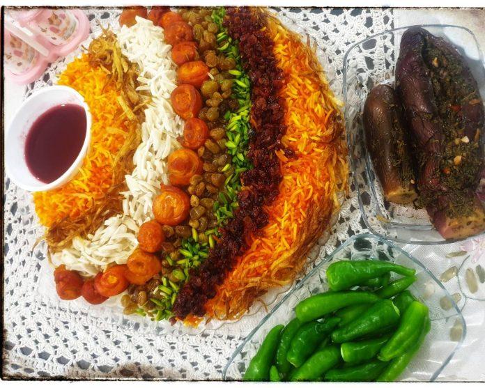طرز تهیه و دستور پخت مرصع پلو