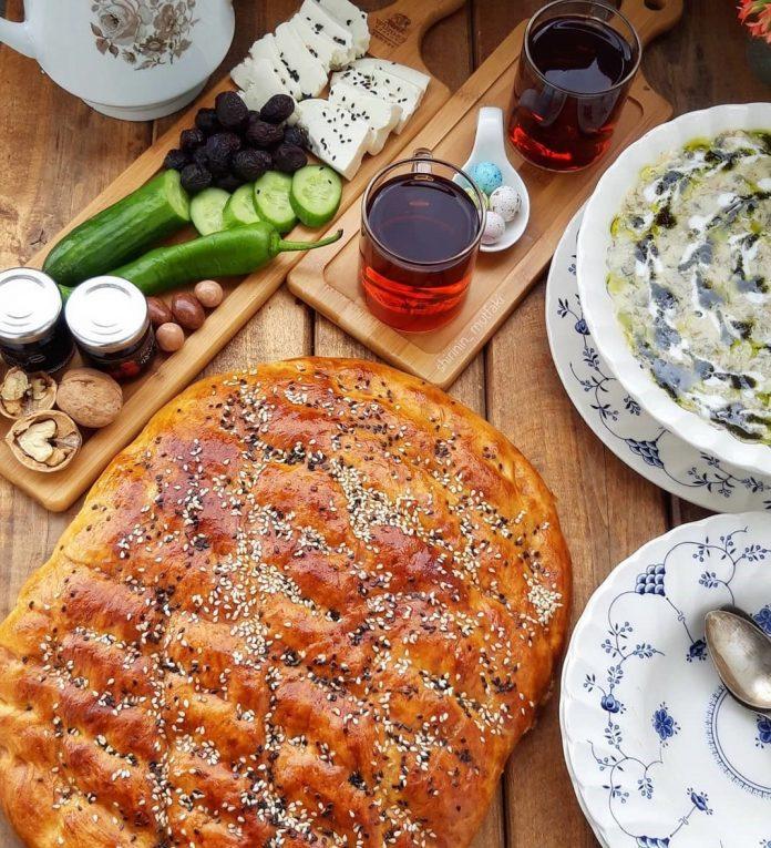 طرز تهیه نان پیده ترکیه