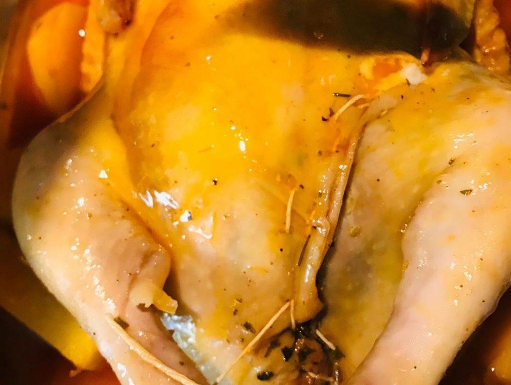 طرز تهیه مرغ شکم پر