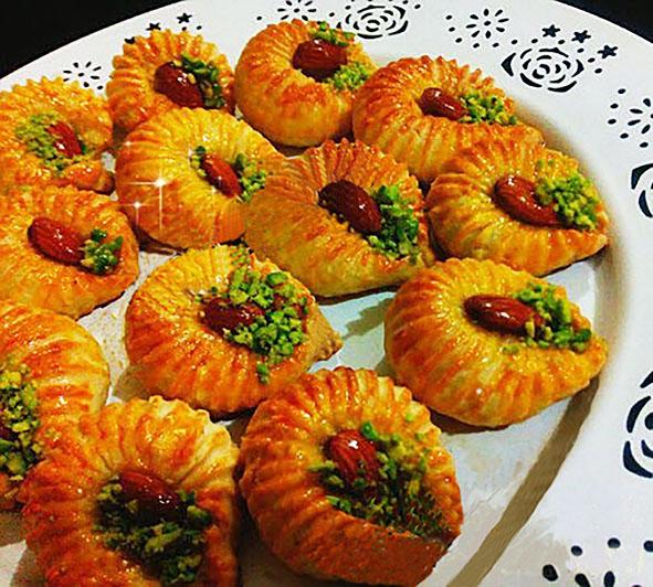 طرز تهیه و دستور پخت شیرینی تاتلی شانه ای روگازی