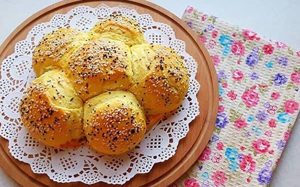 طرز تهیه نان شیر بدون فر