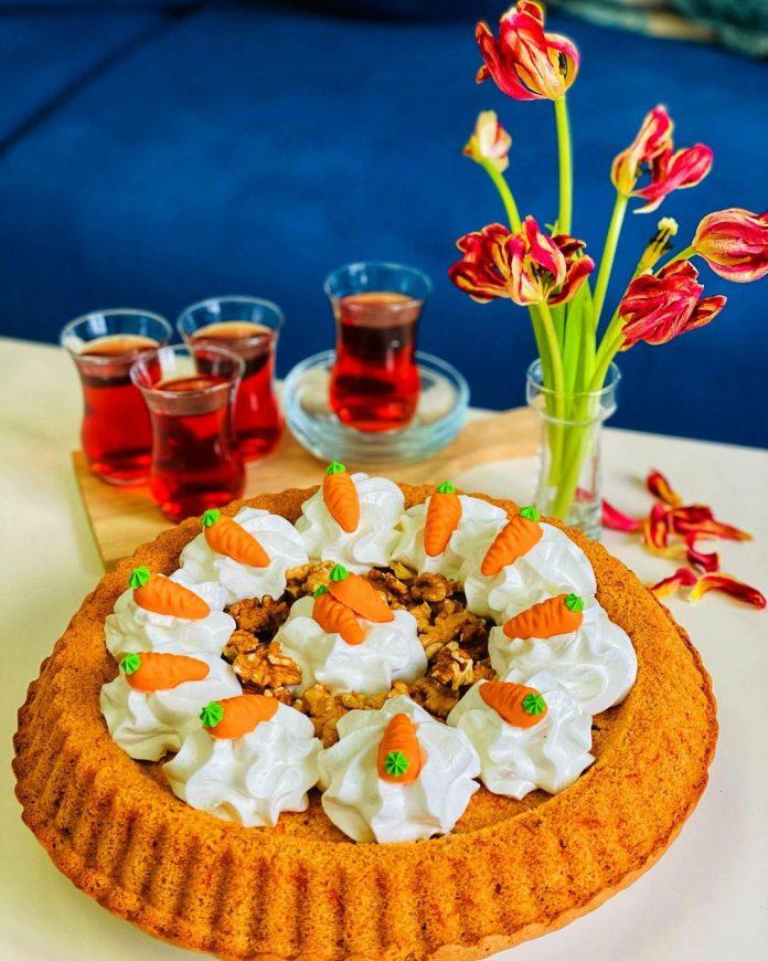 کیک هویج و گردو