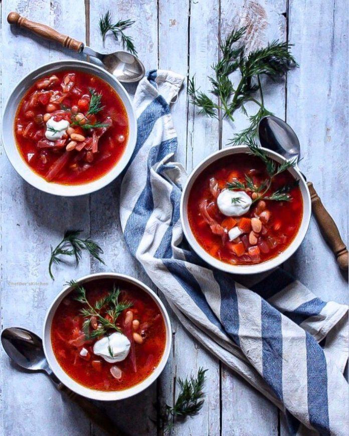 سوپ برش روسی