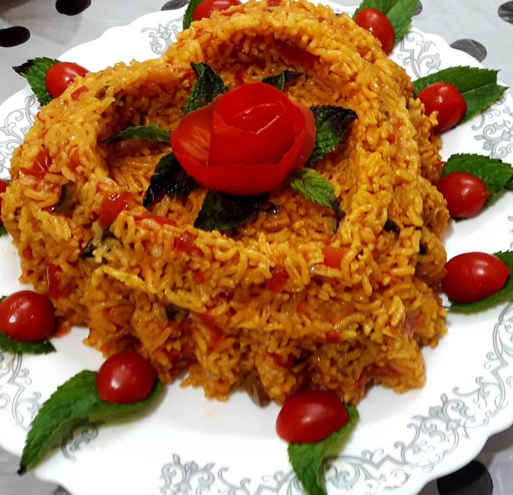 طرز تهیه کته گوجه