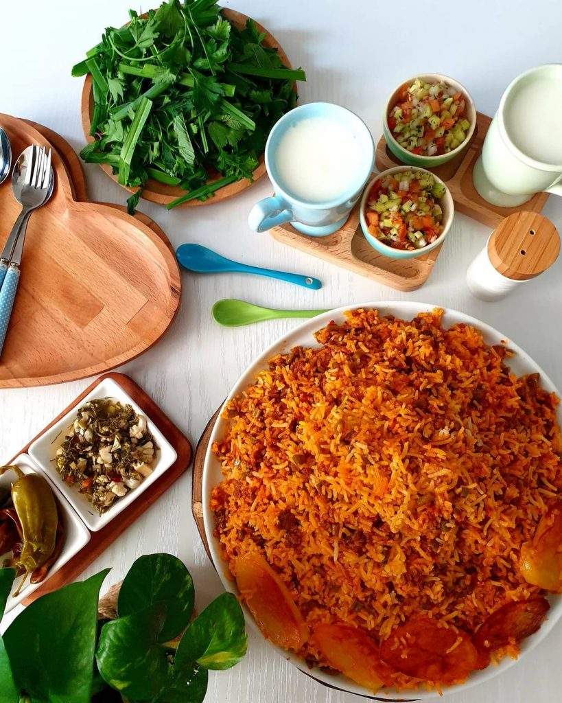 طرز تهیه لوبیا پلو با گوشت چرخ کرده