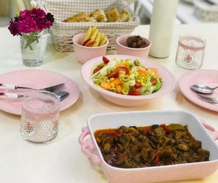 خوراک قارچ و گوشت